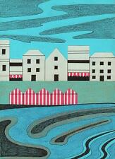 ST IVES COASTLINE CORNWALL ABSTRACT Pen & Ink Drawing ARTHUR MITSON 1987
