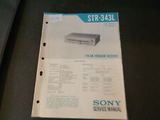 Original Service Manual Schaltplan Sony STR-343L