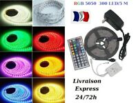 5-30m Bande Ruban LED Strip Flexible RGB 5050 SMD Etanche Fête déco led SS 48 H