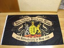 Fahnen Flagge Schwaben Hüte dich vor Sturm und Wind Digitaldruck - 90 x 150 cm
