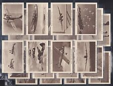 STRATHMORE TOBACCO CO LTD. BRITISH AIRCRAFT. SET OF 25 ISSUED IN 1938. EXC/MINT.