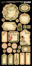 Graphic45 PORTRAIT OF A LADY Journaling Chipboard scrapbooking (27) PCS Vintage