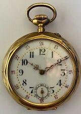 Taschenuhr massiv Gold 750 Schweiz Pocket Watch solid gold 18 K ca.1910 Suisse