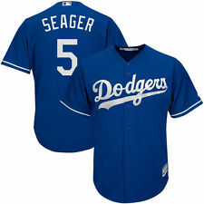 MLB Los Angeles Dodgers Men's Seager #5 Royal Cool Base Alternate Jersey - Blue