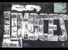 LIMOGES (87) un BONJOUR de ... MONUMENTS en 1904
