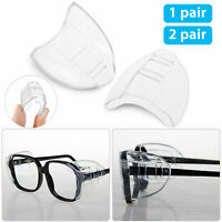 Clear Universal Flexible Protective Safety Side Shields for Eye Glasses 1 Pair
