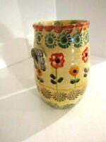 Italian Art Pottery Ceramic Italica Ars Vase Hand Painted Holder