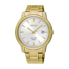 Seiko SGEH70P1 Gents Gold Tone Stainless Steel 100m Analogue Date Watch RRP £229
