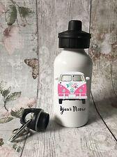 Personalised VW Campervan Drinks, Water Bottle, Girl School, Sport,