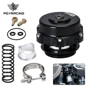 50mm BOV Turbo Universal Billet Aluminum Blow Off Valve Spring+ Flange Black