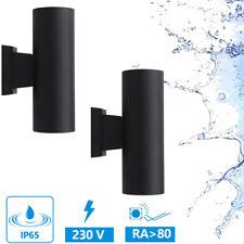 LED Faretto da Muro Applique Parete Lampada IP65 6W 230V Esterno Bagno Nero 2er