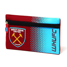 WEST HAM UNITED FC FADE SCHOOL PENCIL CASE COVER FLAT NEOPRENE NEW GIFT XMAS