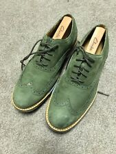 Cole Haan Wingtip Dress Shoes Mens Size 7.5 Green Leather Oxfords B-102