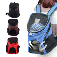 Pet Dog Cat Outdoor Travel Carrier Backpack Small Medium Dogs Grid Carry Bag