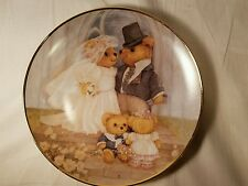 Franklin Mint Collectors Plate Bears Just Married NICE!