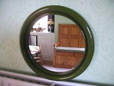 Vintage Retro 1970s Habitat Conran Crayonne Round Green Plastic Wall Mirror