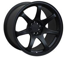 XXR 551 17X8.25 Rims 5x100/114.3 +22 Black Wheels Fits Civic Mazda 3 6 TC 2010+