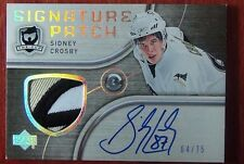 2005-06 THE CUP SIDNEY CROSBY SIGNATURE PATCH AUTO 3 COLORS #/75 THE BEAK