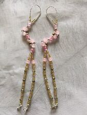 Brand New Pink /gold Barefoot Crystal Sandals Size 3(36)