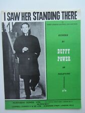 THE BEATLES 1963 ORIG UK SONG SHEET MUSIC  DUFFY POWER  I SAW HER STANDING THERE