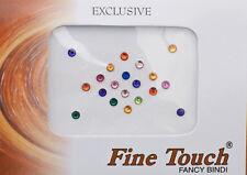 Bindi bijou de peau front Bollywood faux piercing multicolore 3 mm INF D 1582
