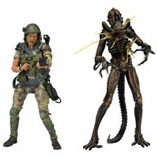 "NECA Aliens Private William Hudson VS Xenomorph Warrior 7"" Inch Action Figure"