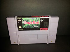 DISNEY'S THE JUNGLE BOOK SUPER NINTENDO SNES CLEAN TESTED FREE SHIPPING!