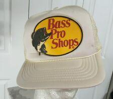Nwt Vintage Bass Pro Fishing Hunting Advertising Snapback Hat Trucker Cap white