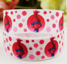 Trolls Princess Poppy Character 25mm Grosgrain Ribbon for card Making or Bows