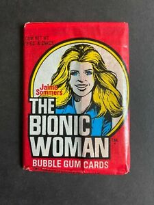 THE BIONIC WOMAN FULL UNOPENED WAX TRADING CARD PACK, BY DONRUSS FROM 1976