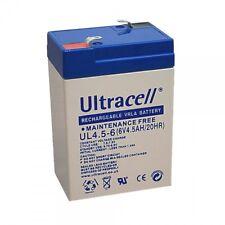 Ultracell UL4.5-6 : Batterie au plomb étanche 6V 4.5AH 4AH : 70x47x105.5mm