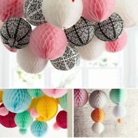 5Pcs Honeycomb Paper Ball Christmas Wedding Party Birthday Paper Lantern Decor