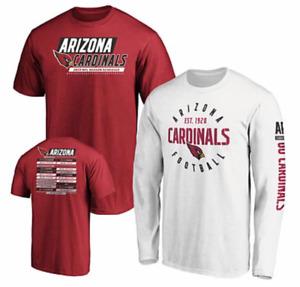 Arizona CARDINALS FANATICS NFL Official Men's 3 in 1 TEE-SHIRT 2019 COMBO, Large