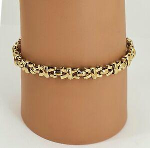 "Italy Italian 9ct Gold Fancy Link Designer Bracelet. Length 7.25"". NICE1"