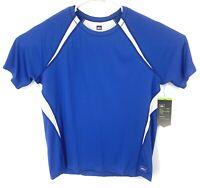 REI Mens Airflyte Tee Running Shirt Blue White NWT Large