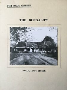 1952 particulars,& conditions of sale The Bungalow, Horam, East Sussex