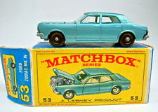 "Matchbox RW 53C Ford Zodiac blaumetallic top in ""E"" Box"