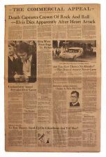 Elvis Presley Death Memphis Tennesse 8/16/77 Newspaper