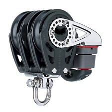 HARKEN HK2140 57mm Triple Ratchet Block, Swivel, Cam Cleat, Marine Pulley