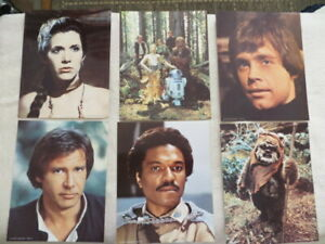 """Star Wars Fan Club - 6 Return of the Jedi pictures noted """"1983 LFL"""""""