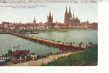 Cathedral of Cologne and Pontoon Bridge River Rhine   about 1910  Postcard 2117