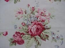 Yuwa American Barkcloth wunderschöne Raspberry und rosa Rosen auf pink Stoff BTY