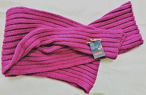 Woll-Schal ohne Fransen Ripp-Strick unisex 20x200cm -von Maximo Made in Germany-