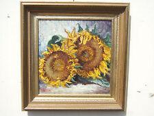 """Sunflowers"" oil on canvas, Irek T. Szelag listed artist"