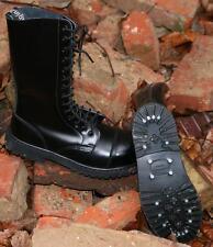 NEU BW Stiefel Army Boots 14 Loch mit Stahlkappe Ranger schwarz Springer UK 9 43