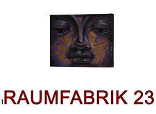Original Öl Bild Wandbild Buddha Ölgemälde Leinwand Gold 20x25 Kunst Art Indien
