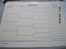 Manchester Terrier Body Blank Pedigree Sheets Pack 10