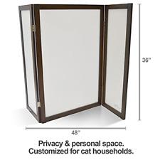 PetFusion ModestCat Litter Box Privacy Screen 3' tall; 4' wide. Cat litter box
