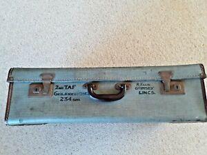 Large Vintage Suitcase Military Hard cased pattern St Michael Brand mid century