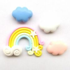 Fridge Magnet Set Colorful Rainbow Pink Clouds Marshmallow Lovely Fun Decor Gift